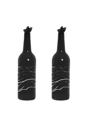Herevin Siyah Mermer Baskılı Yağlık-sirkelik 2'li 750 Cc 151144-123