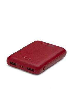İntouch Basic 10.000 Mah. 2 Çıkışlı Taşınabilir Sarj Cihazı Powerbank Kırmızı