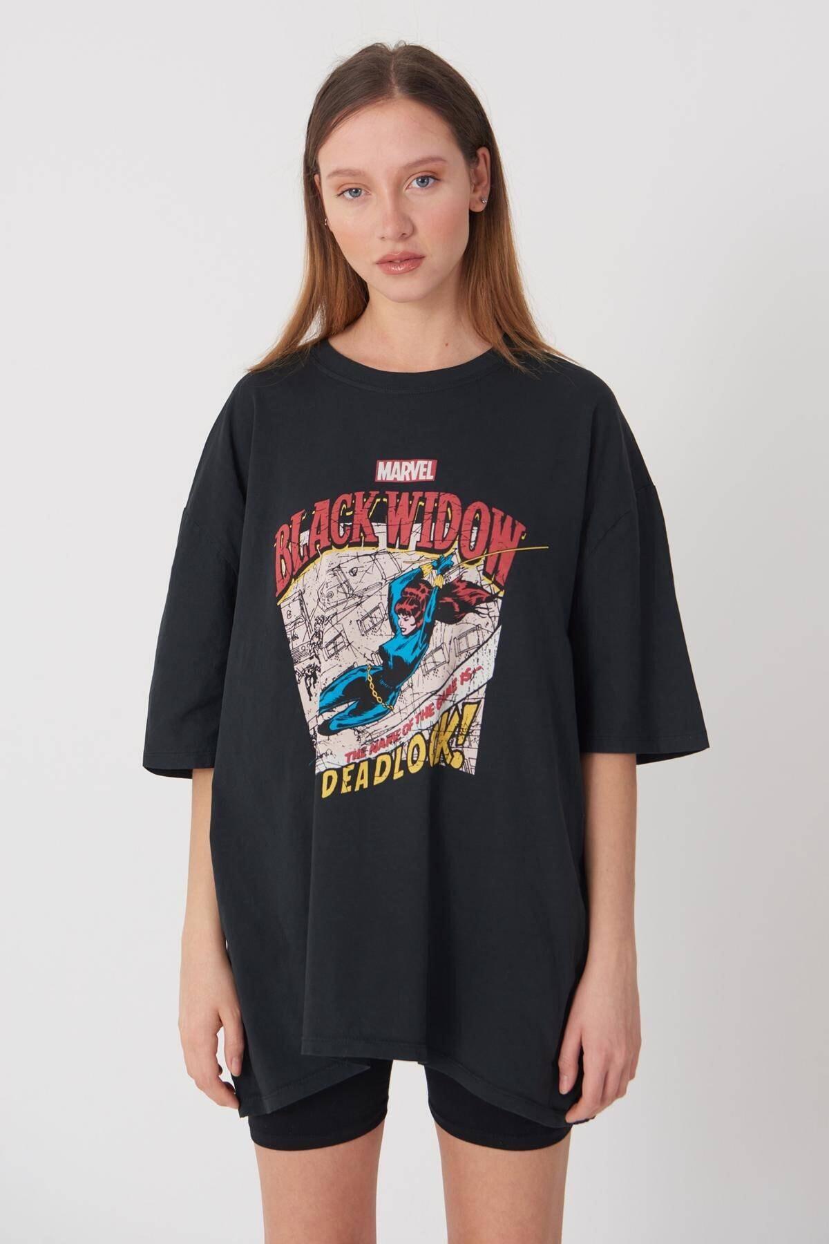 Addax Baskılı T-shirt P9396 - D11