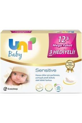 Uni Baby Sensitive Islak Havlu 12'li Fırsat Paketi 672 Yaprak Kapaklı