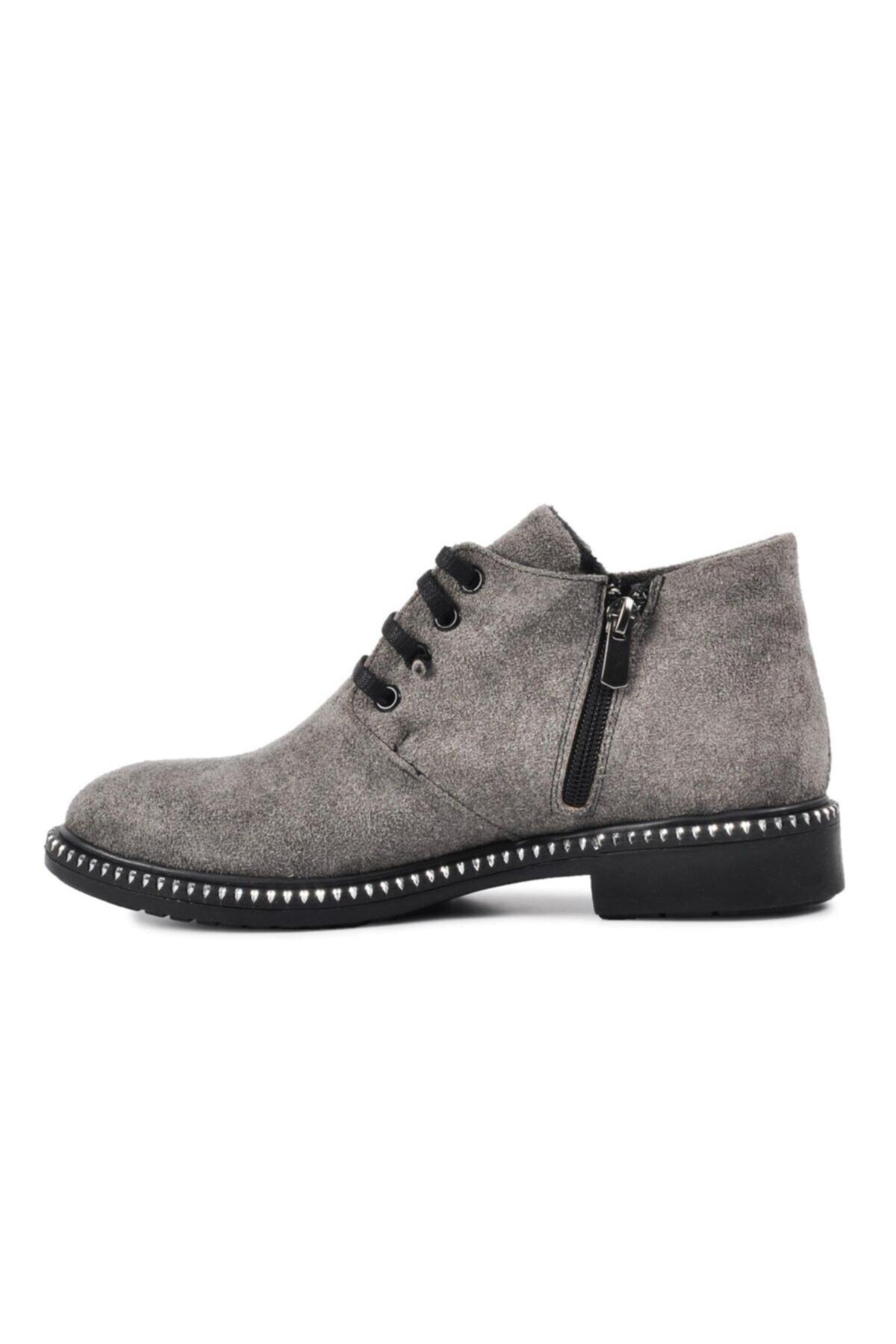 Pierre Cardin Kadın Gri Süet Günlük Ayakkabı 50421 2