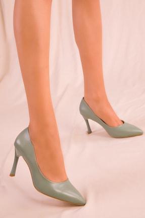 SOHO Su Yeşil Kadın Klasik Topuklu Ayakkabı 15807