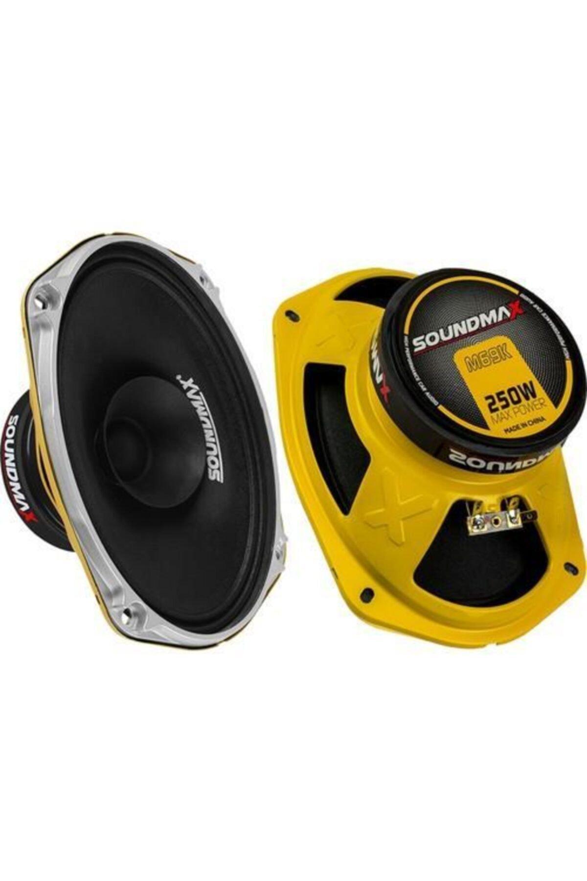 Soundmax Sx-m69k Midrange Oval 6x9 300w Oto Hoparlör 1 Çift 1