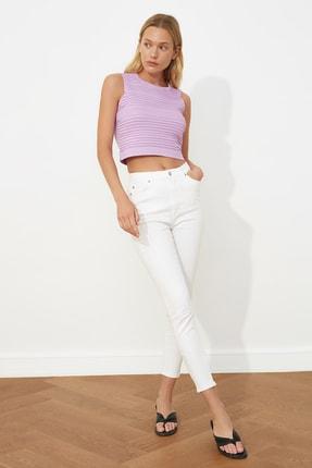 TRENDYOLMİLLA Beyaz Yüksek Bel Skinny Jeans TWOSS20JE0409