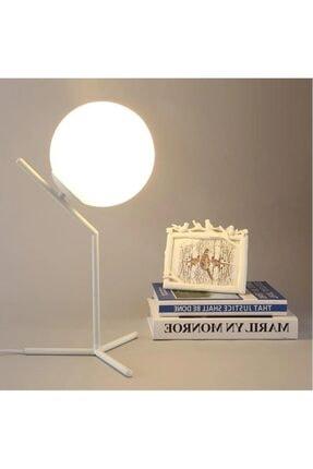 Sinem Avize  Beyaz Modern Masa Lambası Abajur
