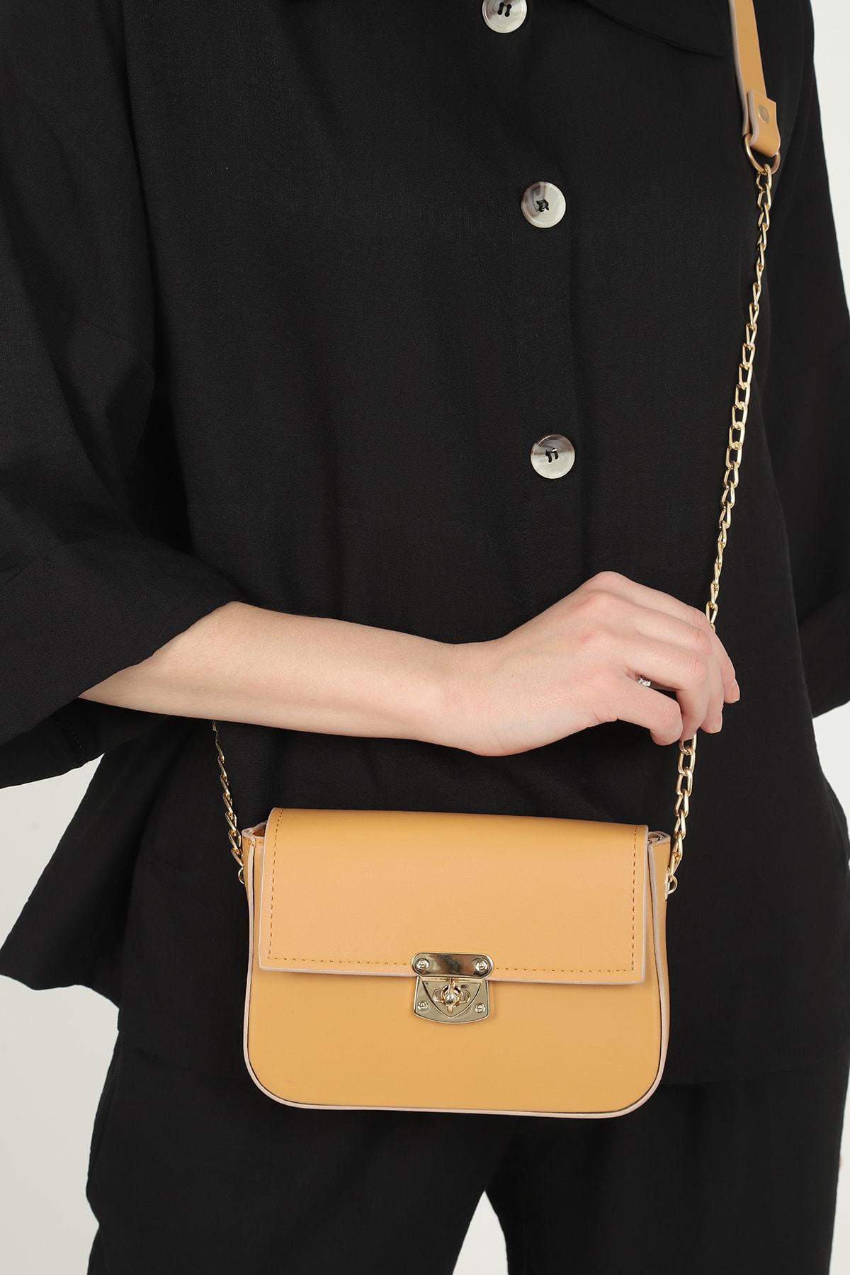 QOOL WOMEN Kadın Çanta Mini Baget 1