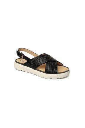 Geox Kadın Siyah Topuklu Sandalet D827wb-c9999