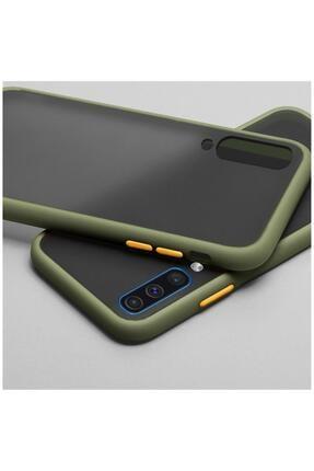 Dara Aksesuar Samsung Galaxy A50 Uyumlu Yeşil Silikon Kenar Telefon Kılıfı