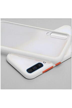 Dara Aksesuar Samsung Galaxy A50 Uyumlu Beyaz Silikon Kenar Telefon Kılıfı