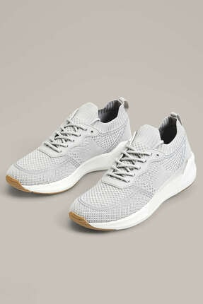 Oysho Kadın Gri Şeffaf Parçalı Bağcıklı Spor Ayakkabı