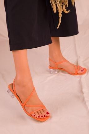SOHO Turuncu Kadın Klasik Topuklu Ayakkabı 15822