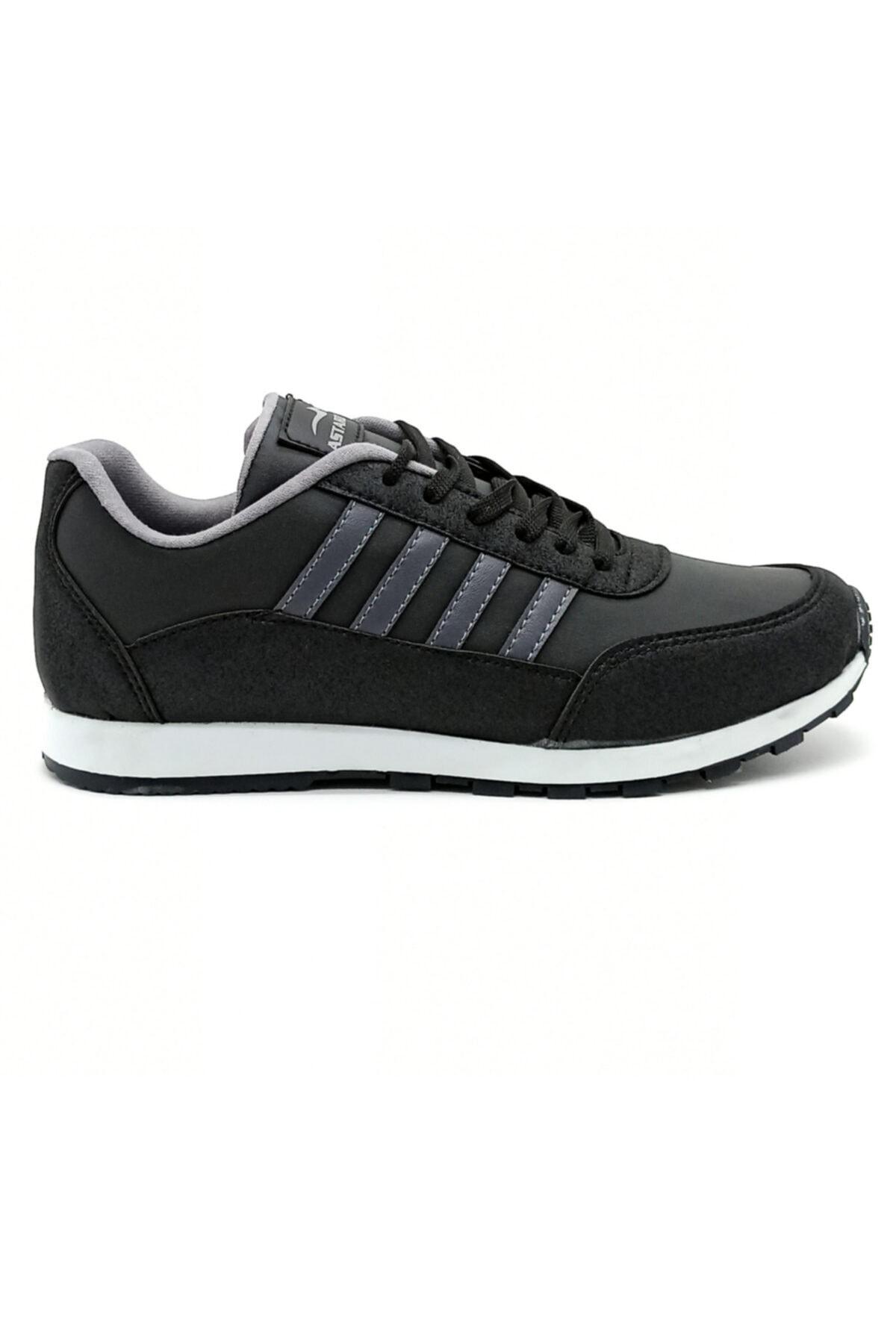 Hercule Shoes Erkek Siyah Füme Spor Ayakkabı Günlük Snekaer 1