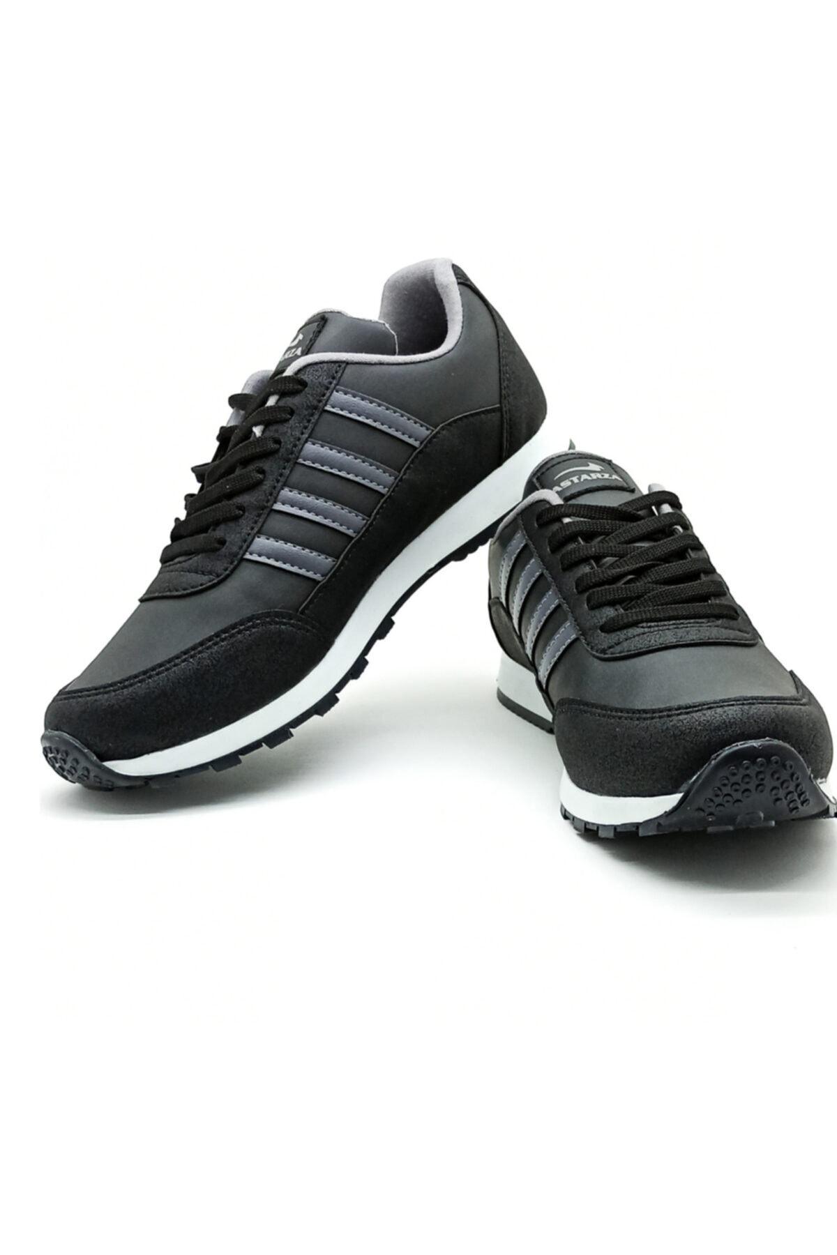 Hercule Shoes Erkek Siyah Füme Spor Ayakkabı Günlük Snekaer 2