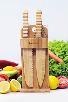Bambum Chapati 2 Parça Standlı Bıçak Seti Bsb001