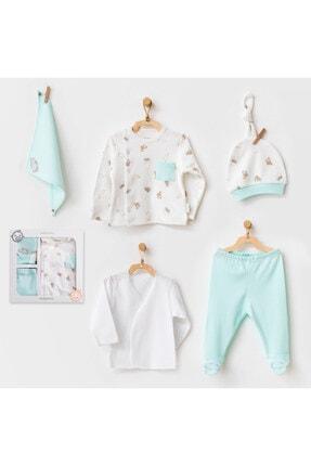 andywawa Bebek Hastane Çıkışı 5 Pcs Newborn Set Hıppo