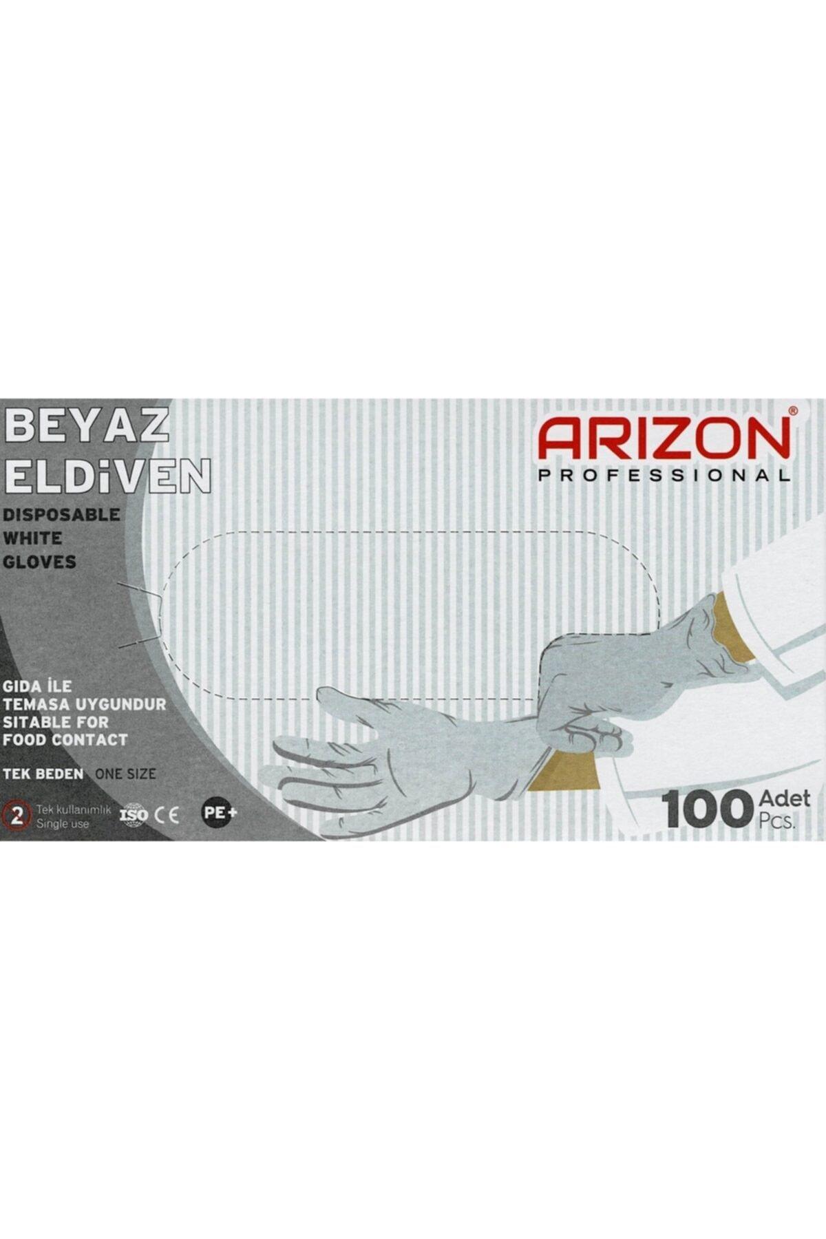 Arizon Bidünyapazar Beyaz Renkli Çok Amaçlı, Kullan-at Eldiven Tek Kullanımlık 1