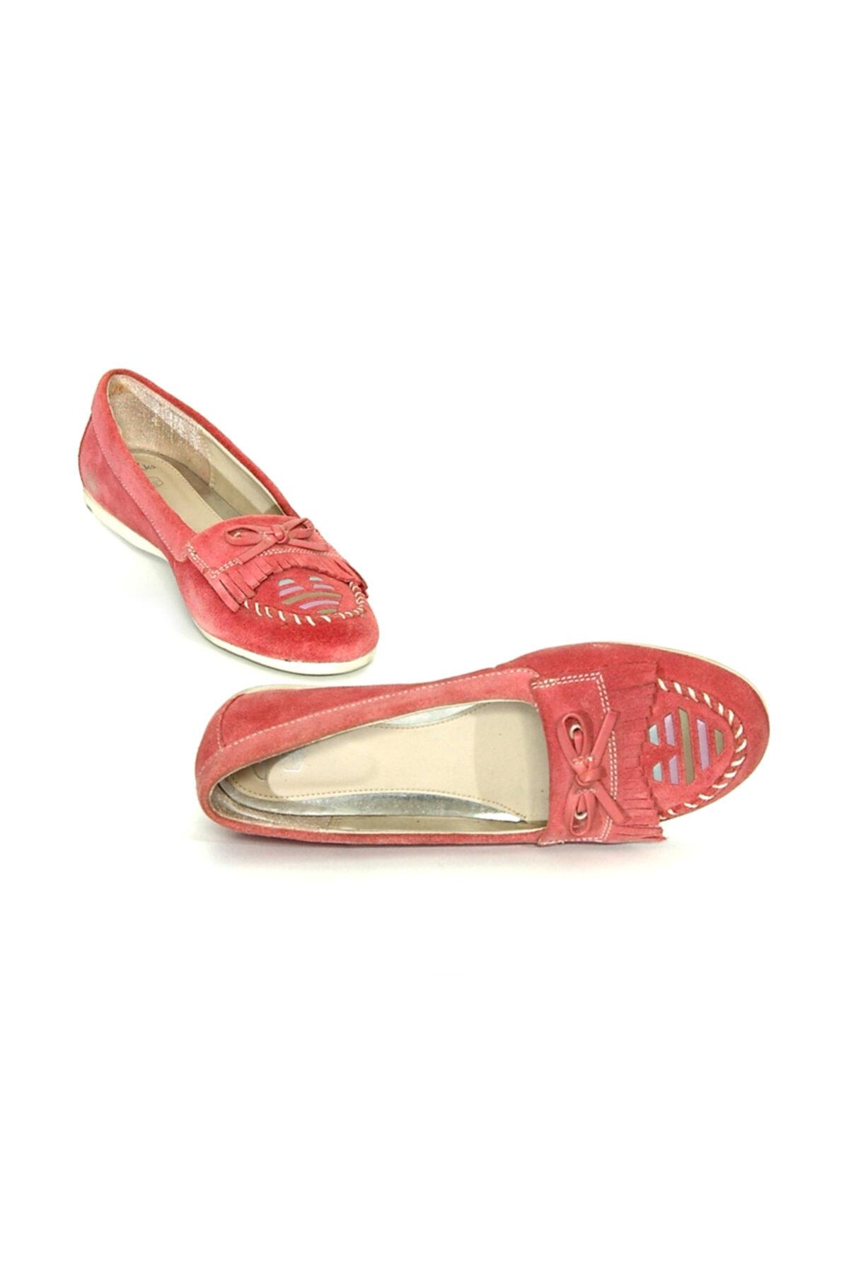 CLARKS Kız 7 Yaş Üstü Babet Ayakkabı Şık Ve Rahat Pink Patent 1