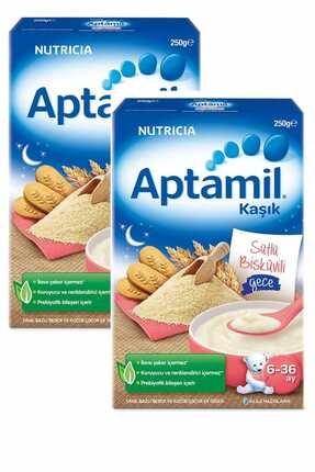Milupa Aptamil Sütlü Bisküvili 250 Gr Kaşık Maması 2'li Set