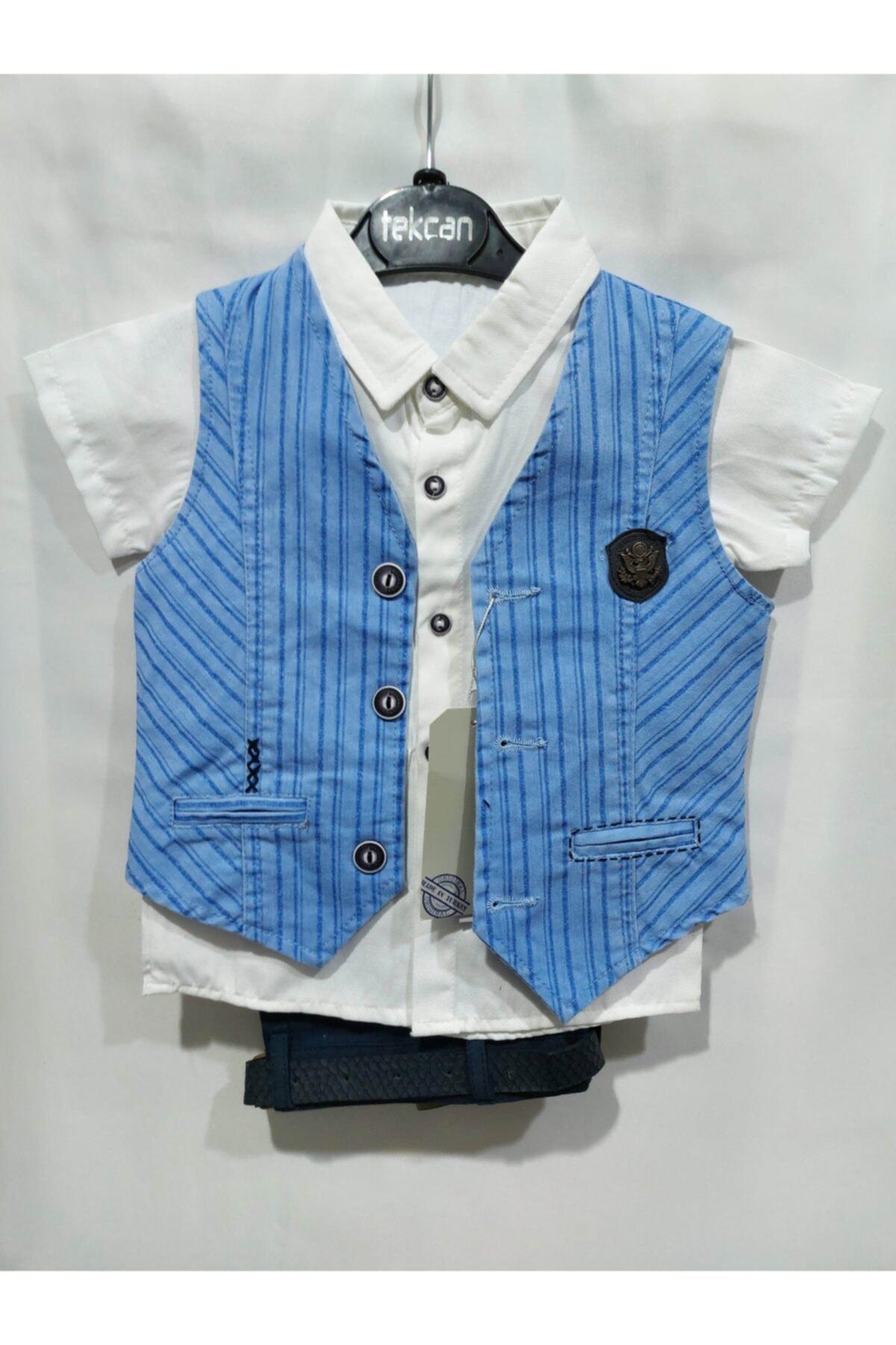 Tekcan Erkek Çocuk Mavi Takım Elbise 1