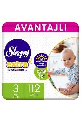 Sleepy Extra Avantajlı Bebek Bezi 3 Numara Midi 112 Adet