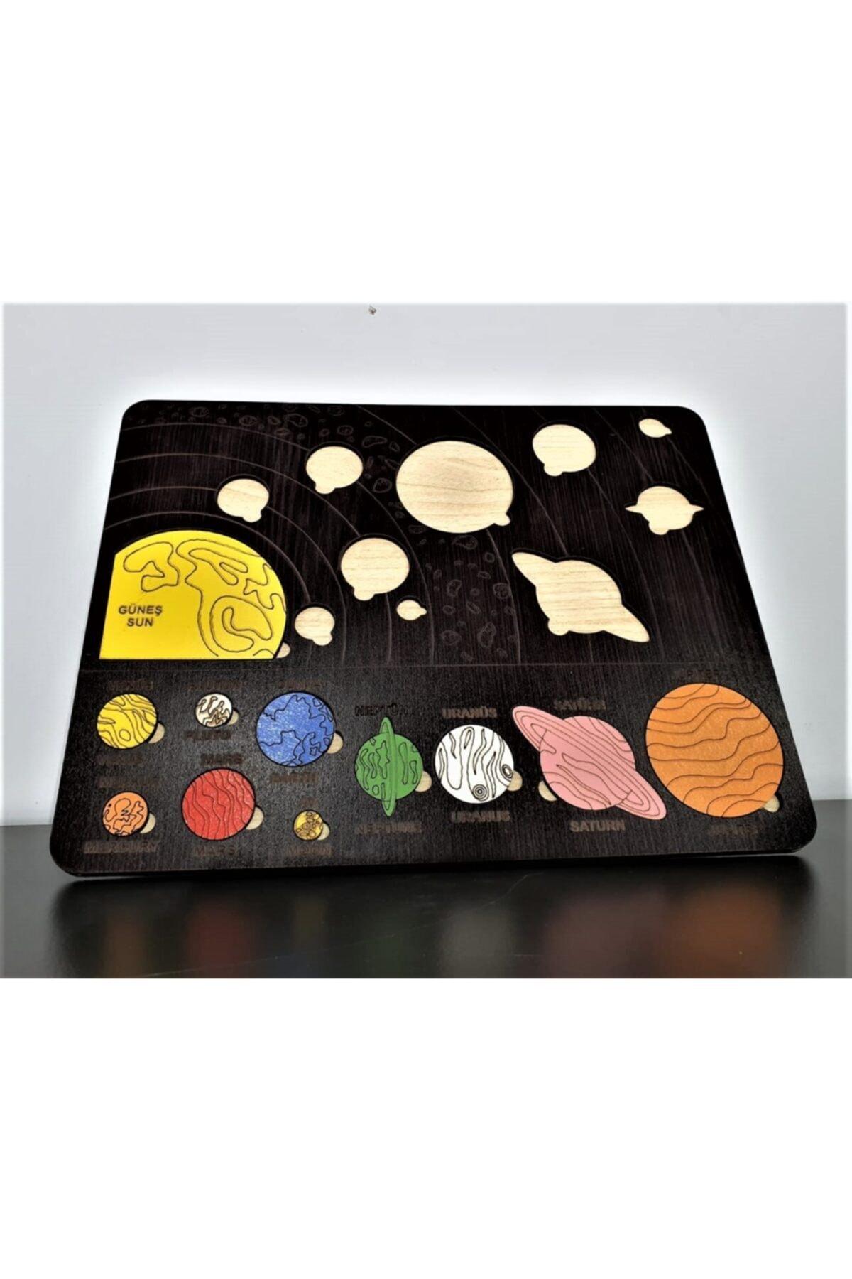 les doyen Renkli Ahşap Güneş Sistemi Bul Tak Puzzle 1