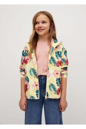 MANGO Kids Desenli Kapüşonlu Ceket