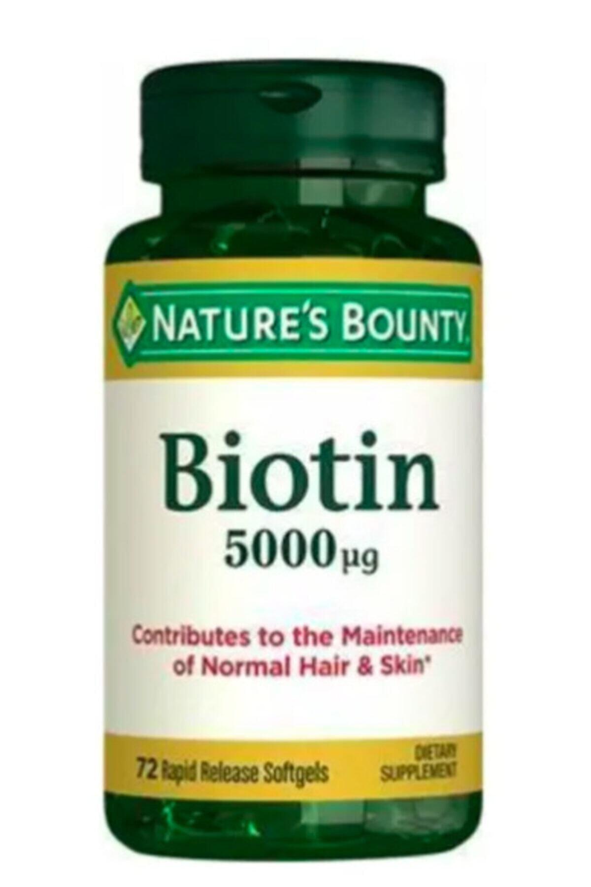 Nature's Bounty Biotin 5000 Mcg 72 Kapsül 1