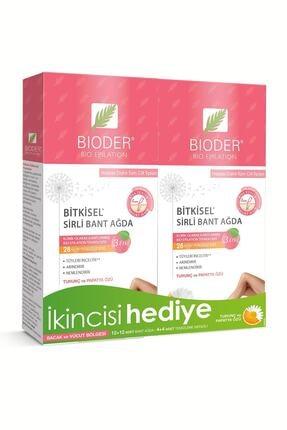 Bioder Bacak & Vücut Bölgesi Tüy Azaltıcı Bitkisel Sirli Bant Ağda 12'li X 2 Adet