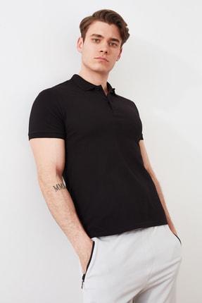 TRENDYOL MAN Siyah Erkek Slim Fit Polo Yaka Polo Yaka T-shirt TMNSS21PO0008