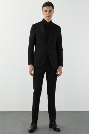 Network Erkek Slim Fit Siyah Smokin Takım Elbise 1078608