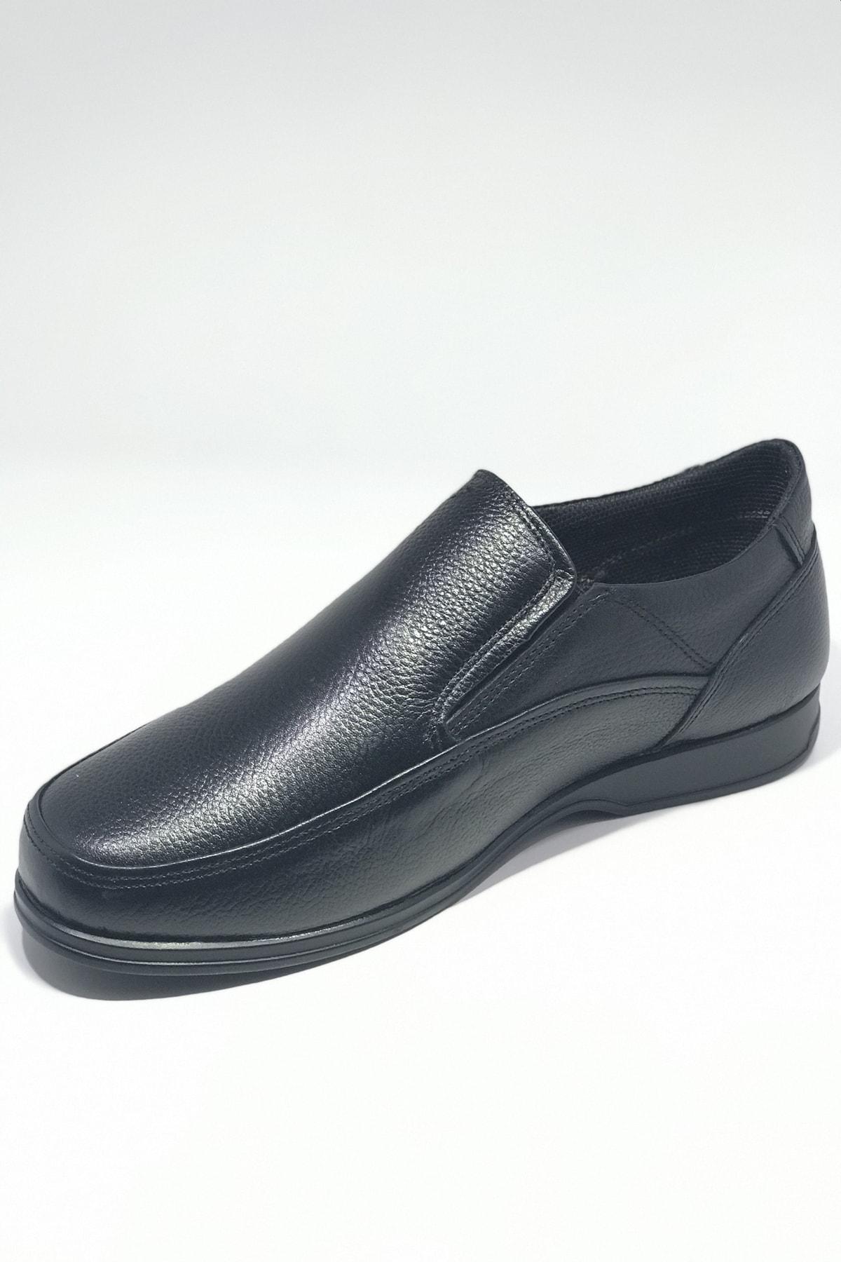 SAİM KUNDURA Baba Ayakkabısı Hakiki Deri 4 Mevsimlik Ortopedik Taban Bağsız 2