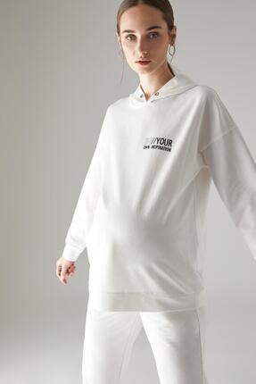 DeFacto Kadın Hamile Baskılı Kapüşonlu Sweatshirt U3440AZ21SP