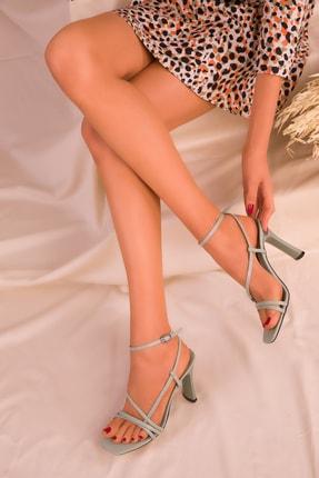SOHO Yeşil Kadın Klasik Topuklu Ayakkabı 15859