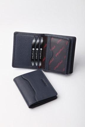 CENGİZ PAKEL Deri Lacivert Kartlık-cüzdan