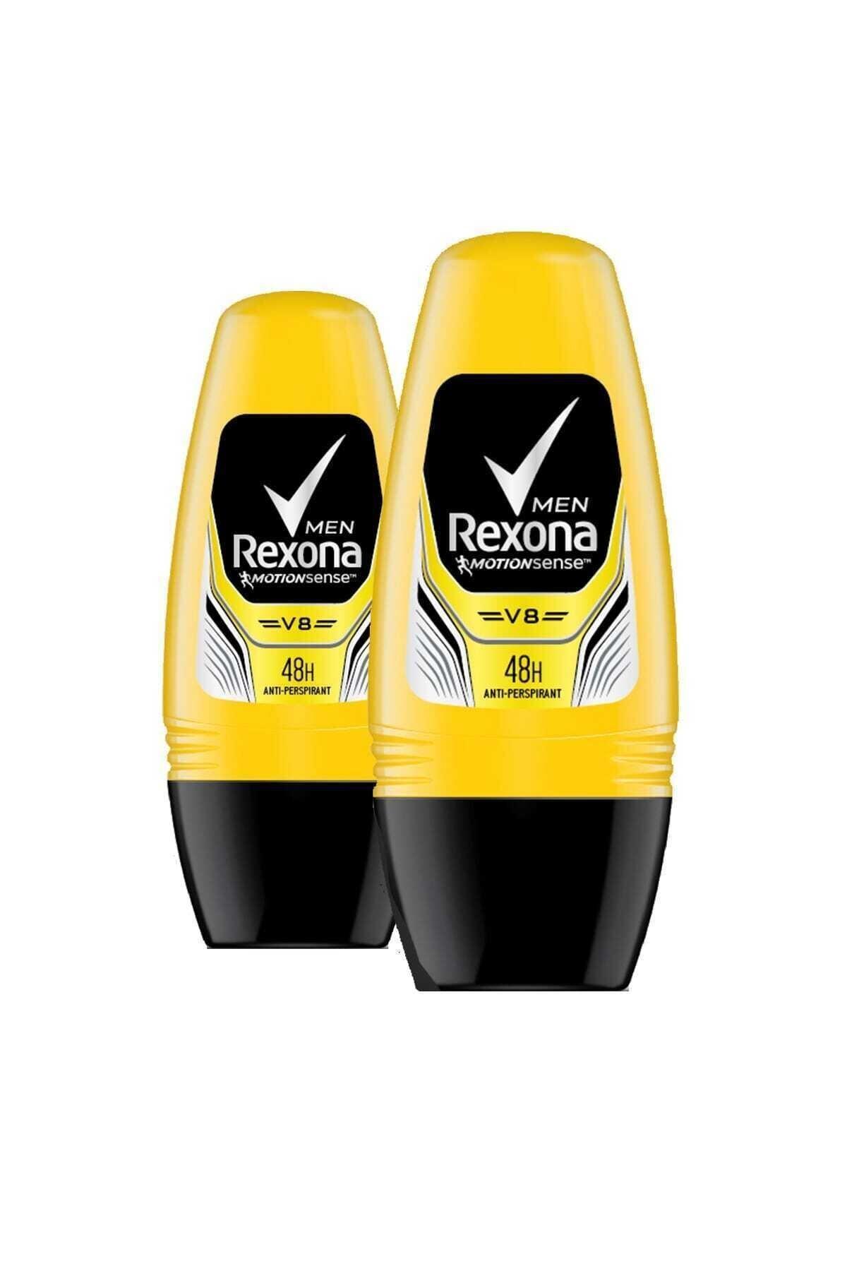 Rexona Erkek Deodorant Roll On V8 - 50 ml X 2 Adet 1