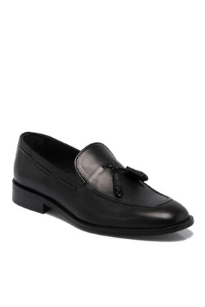 Tergan Erkek Siyah Deri Ayakkabı 55310a43