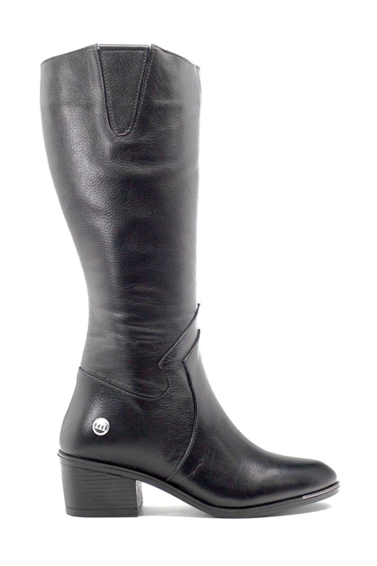 Mammamia D19kc-2020 Hakiki Deri Siyah Kadın Çizme 2