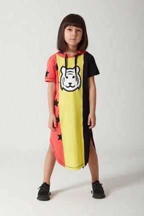 MonoKido Kız Çocuk Rebkli Tigo Coral Elbise