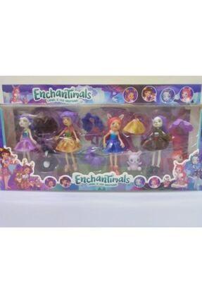 Enchantimals Figür Oyuncak Seti 8 Adet Figür Karakter Ve Aksesuarları Kız Çocuk Evcilik Oyuncakları