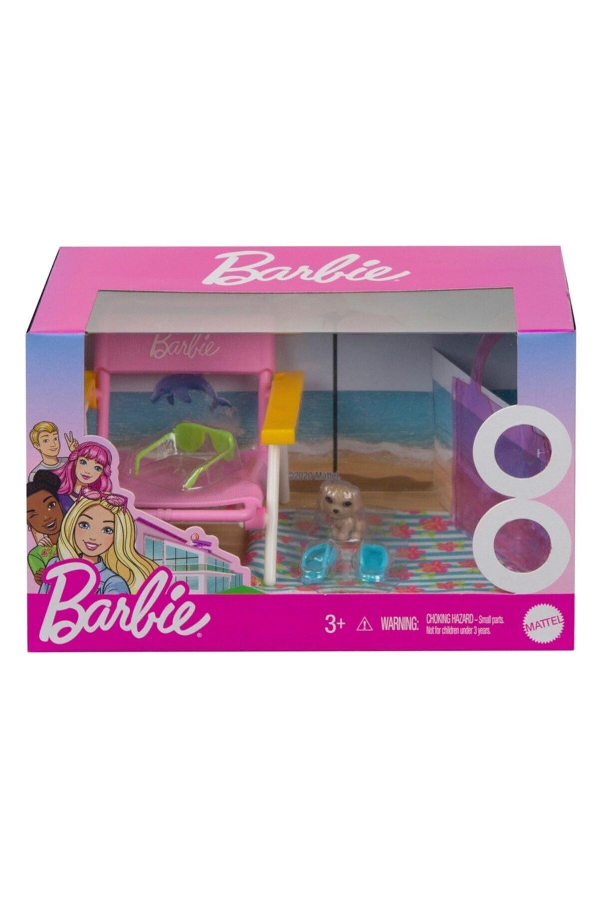 Barbie Ev Aksesuar Paketleri Grg65 -plaj Günü 2