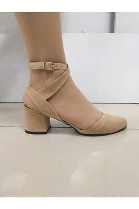 PUNTO Kadın Bej Kısa Topuk Ayakkabı