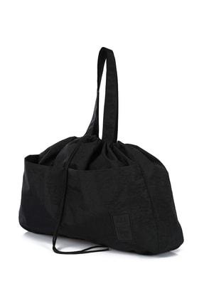 Bagslab Unisex Siyah Büzgülü Su Geçirmez Kumaş Cepli Bebek Bakım Çantası