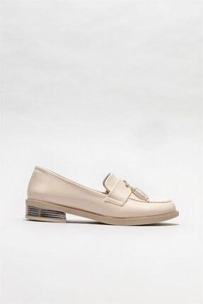Elle Shoes Kadın Bej Loafer Ayakkabı