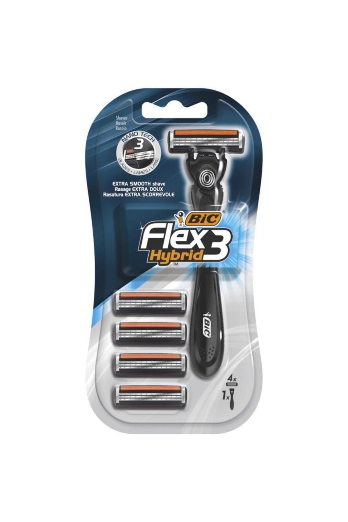 Bic Flex 3 Hybrid Tıraş Bıçağı 4 Kartuşlu 1