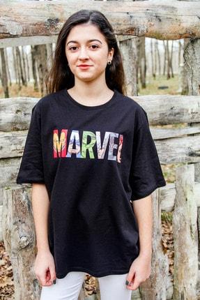 Unique Unıque Kadın Siyah Marvel T-shirt