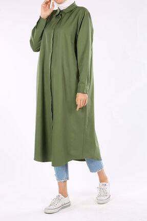 ALLDAY Pastel Yeşil Büyük Beden Gömlek Tunik