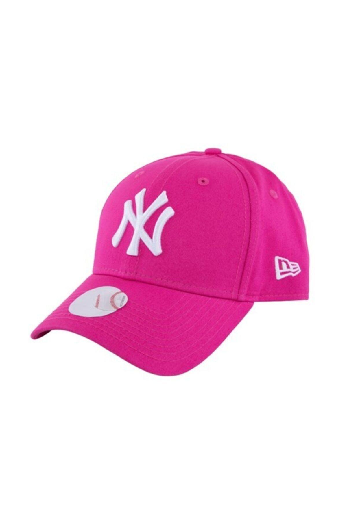 NEW ERA Kadın Şapka - Fashion Essential 9forty New York Yankees Pink/optic White 2
