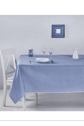 ZEYNEP ÇEYİZ Mavi Küçük Kare Desen Pötikareli Masa Örtüsü, Sofra Bezi, Piknik Örtüsü 80x80 Cm