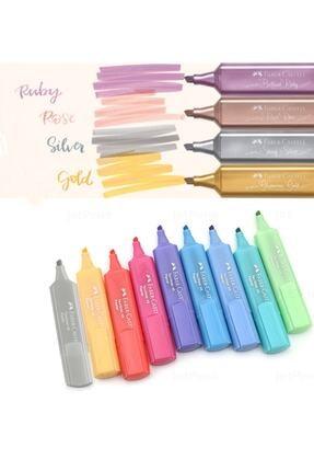 Faber Castell Yeni Metalik Ve Pastel Tüm Renkler 13lü Işaretleme Kalem Seti
