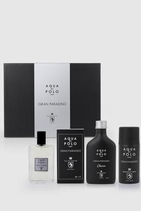 Aqua Di Polo 1987 Gran Paradiso Erkek Seti Parfüm,tıraş Kolonyası,deodorant Stcn000201